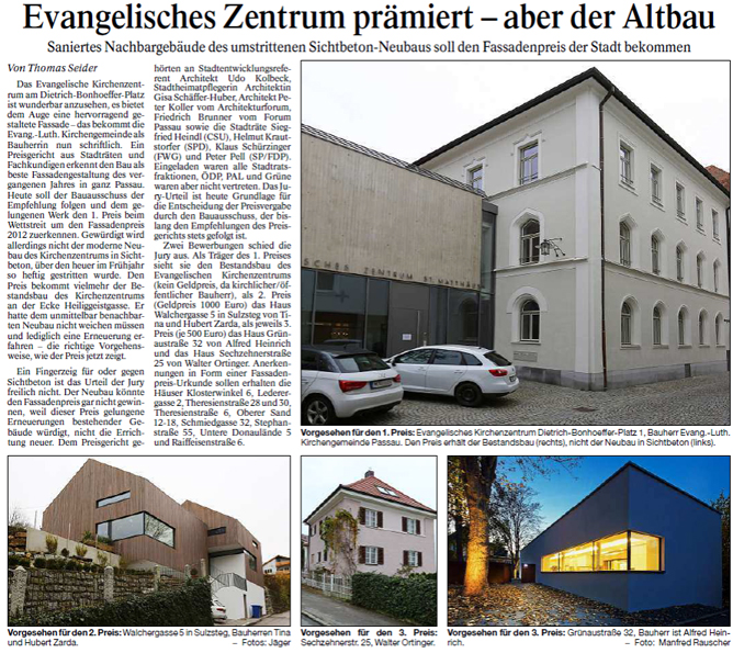 Artikel Fassadenpreis